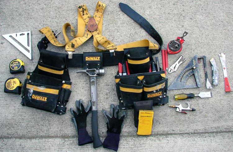 tipos de cinturones de herramientas