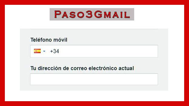creando cuenta de gmail prefijo de pais