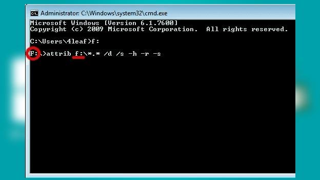 eliminar virus de acceso directo desde el cmd